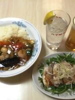 大公楼: 昼メニュー/中華丼+ソフトドリンク